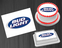 Bud Light Beer Edible Image Icing Frosting Sheet #3 Cake Cupcake Cookie Topper
