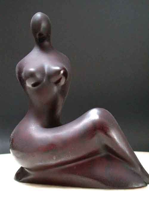Image 3 of Beautiful Female Form Modern Abstract Sculpture Resin