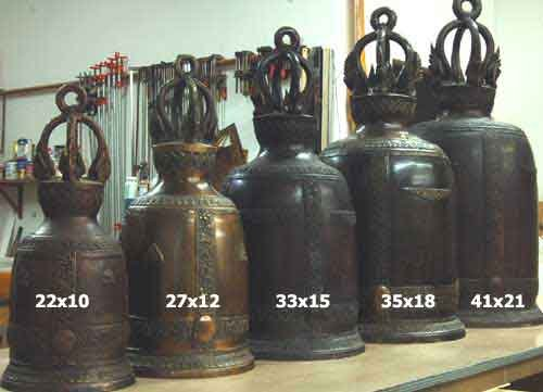 Image 0 of Bronze Bell Traditional Buddhist Temple Zen Feng Shui 15