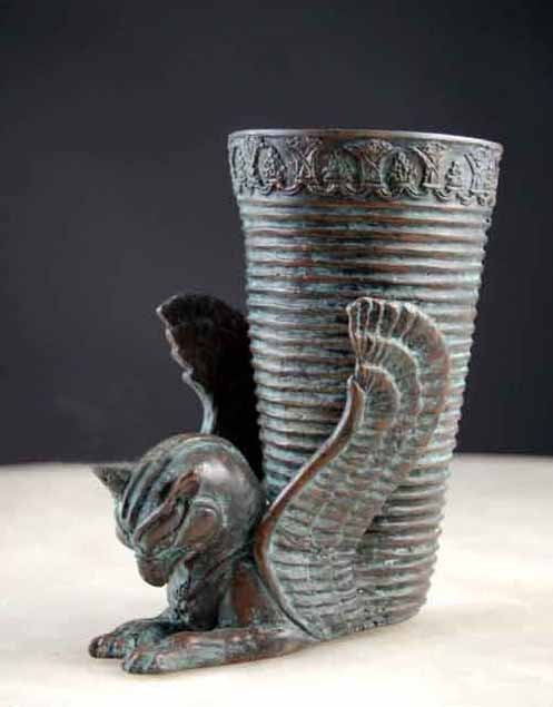 Bronze Vase/Mug w/ Wings Alexander Movie Prop (Last One)