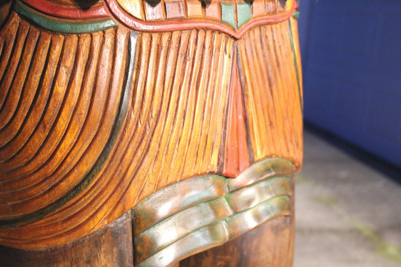 Image 6 of Wooden Native American Indian Chief Life Size Hand Carved Scupture Ready to Ship