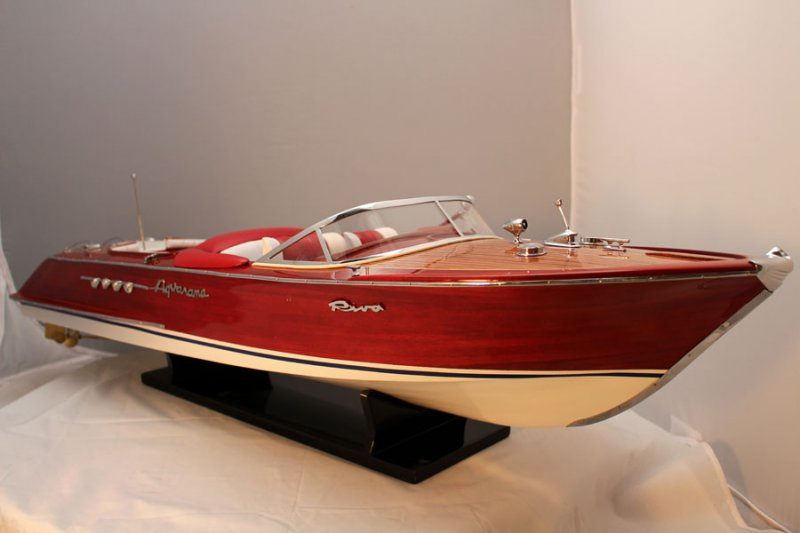 Boat Model Special Riva Aquarama Large 3 Foot Length Top Quality Made !