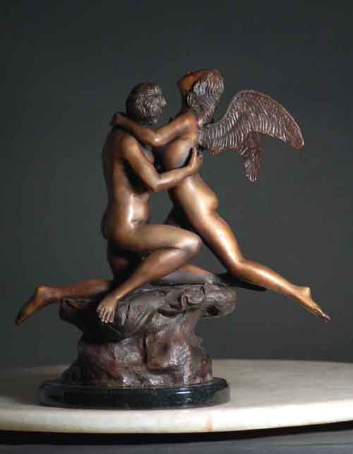 Bronze  Cupid and Psyche  Mystic Lovers Lost Wax