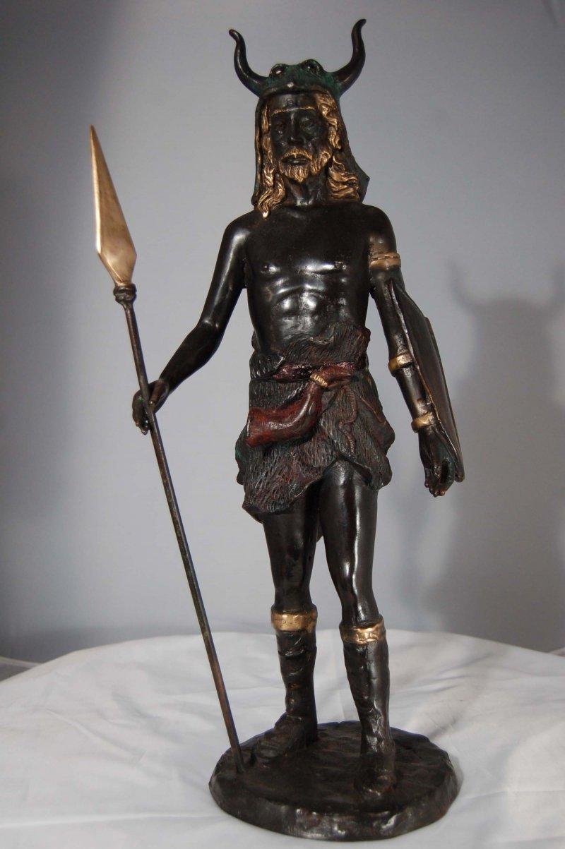 Neptune Poseidon Viking God Odin Bronze sculpture