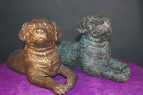 Dog Doorstop Heavy Bronze Rottweiler/ Lab Door Stop / Accent