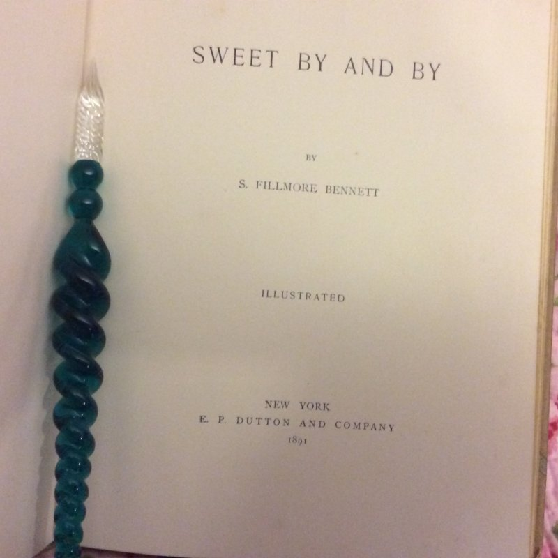 Image 4 of SWEET BY and BY S.Fillmore Bennett,Victorian Illustrated Cover hymn Poetry