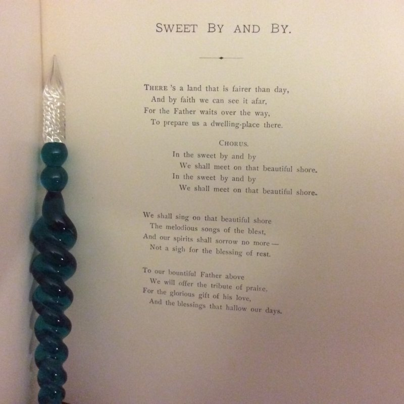Image 5 of SWEET BY and BY S.Fillmore Bennett,Victorian Illustrated Cover hymn Poetry