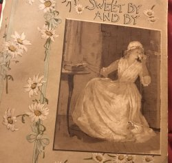 SWEET BY and BY S.Fillmore Bennett,Victorian Illustrated Cover hymn Poetry