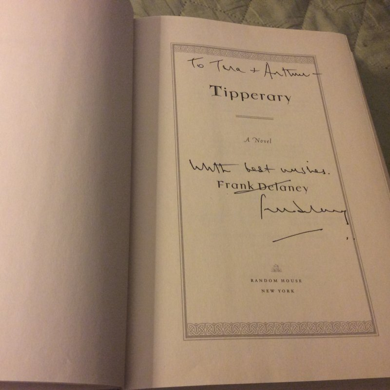Image 2 of Tipperary SIGNED Frank Delaney 1ST ED HC Ireland at Literary Garden Bookshop