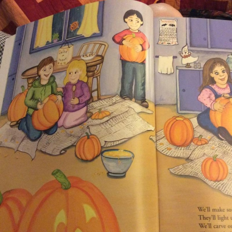 Image 6 of Childrens Halloween Stickers Story FOUR BOOK LOT Each15PGS 150reuseable Stickers