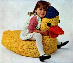 PDF Instant Download Crochet Pattern Child's Duck