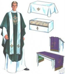 Simplicity Pattern 7950 Altar Cloths Vestment Chasuable Stole Sewing Pattern