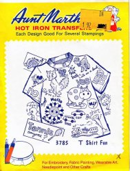Aunt Martha's # 3785 -  T Shirt Fun  Embroidery Hot Iron Transfer
