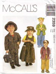 McCall's 2359 Toddlers' Jumper,Shirt, Pull-On Pants and Hat Uncut Sewing Pattern