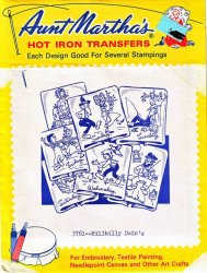 Aunt Martha's # 3761 Hillbilly Doin's Embroidery Hot Iron Transfers