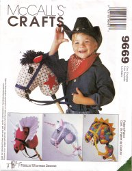 McCall's 9669 Stick Horse and Stick Dino Uncut Sewing Pattern