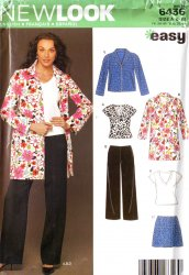 New Look 6436 Misses SZ 8-18  Top Skirt Pants Jacket/Skirt Uncut Sewing Pattern