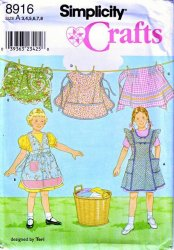 Simplicity 8916 Child's Apron Uncut Sewing Pattern