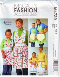 McCall's 4729 Hostess Mother and Daughter Apron Uncut Sewing Pattern