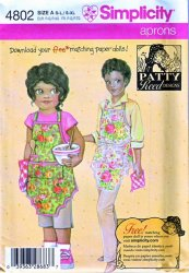 Simplicity 4802 Child's and Misses' Apron Uncut Sewing Pattern