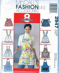 McCalls 2947 Eight Misses Aprons Sewing Pattern