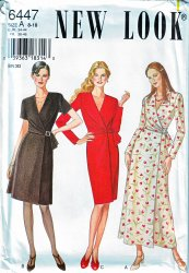 New Look 6447 Misses Wrap Wrap Look Dress Uncut Sewing Pattern Size  8-18