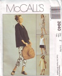 McCall's 3940 Sewing Pattern Maternity Dress, Top, Pants, Shorts (16 - 22)