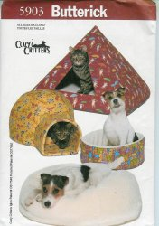 Butterick 5903 Igloo Pyramid Pillbox Pet Bed Uncut Pattern Instruction