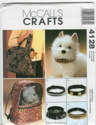 McCall's 4128 Sewing Pattern - Pet Carrier and Collars Uncut Sewing Pattern
