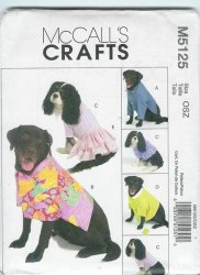 McCalls's 5125 Uncut Sewing Pattern Pet Jacket, Skirt, Polo Shirt, Top