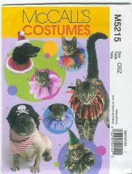 McCall's 5215 Uncut Sewing Patterns to Make Pet Hats and Collars XS-L