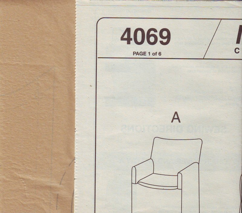 Marvelous McCallu0027s 4069 Chair Slip Covers Directors Wingback Recliner Sewing  Pattern Uncut