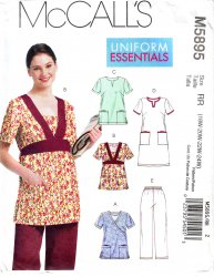 McCall's 5895 (18W-20W-22W-24W) Uniform, Scrubs, Top, Pants Uncut Sewing Pattern