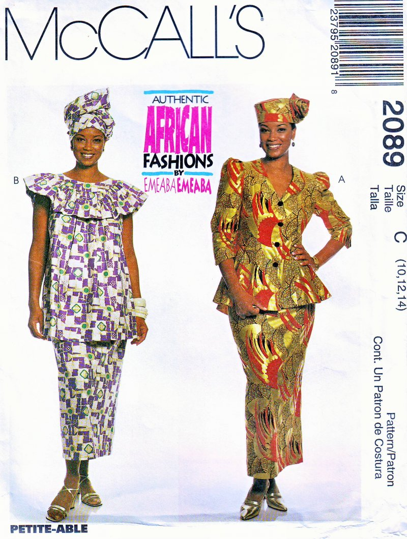 McCall's 2089 (16,18,20) African Fashions by Emeaba Emeaba Uncut Sewing Pattern