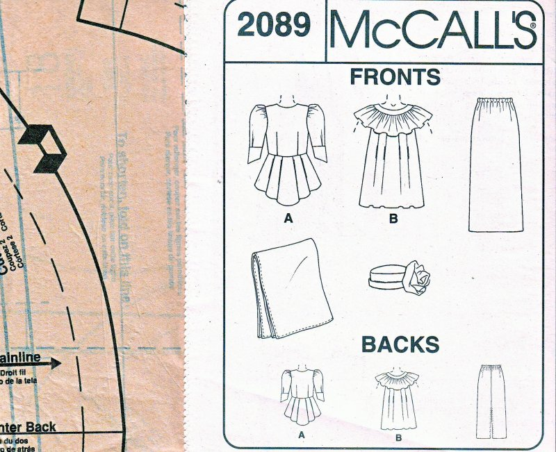 Image 4 of McCall's 2089 (16,18,20) African Fashions by Emeaba Emeaba Uncut Sewing Pattern