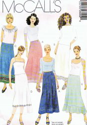 McCall's 2800 Misses' ( 4-6-8) or (8-10-12) Skirts Uncut Sewing Pattern