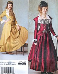 Simplicity 2172 (6-12) or (14-22) Steampunk-Skirt-Top-Bustier Sewing Pattern