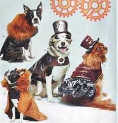 Simplicity 1031 ( S-M-L) Steam Punk Dog Clothes Headgear Sewing Pattern