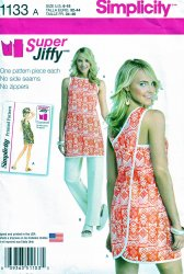 Simplicity 1133 A(6-18) Super Jiffy Retro Wrap Tunic Pants Uncut Sewing Pattern