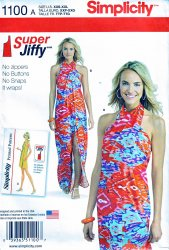 Simplicity 1100 A(XXS-XXL) Super Jiffy Retro Cover Up Uncut Sewing Pattern