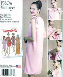 Simplicity 8049 (8-14) or (16-24) Retro 60's Dress Uncut Sewing Pattern