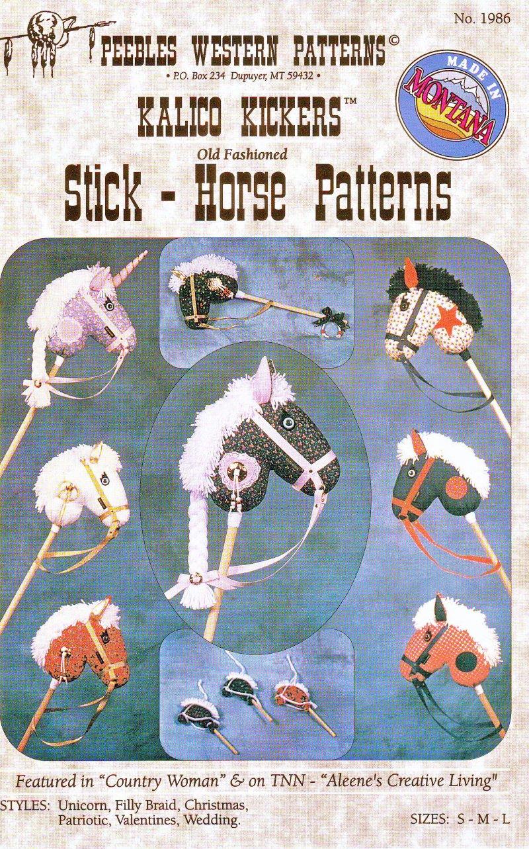 Stick Horse Patterns #1986 Unicorn Filly Christmas Patriotic Valentine Wedding