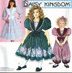 Simplicity 0657 Sewing Pattern Daisy Kingdom Dress Pattern (3-5) or (10-14)