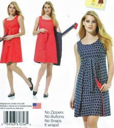 Simplicity 1356 Misses (14-22) Jiffy Reversible Wrap Style Dress Sewing Pattern