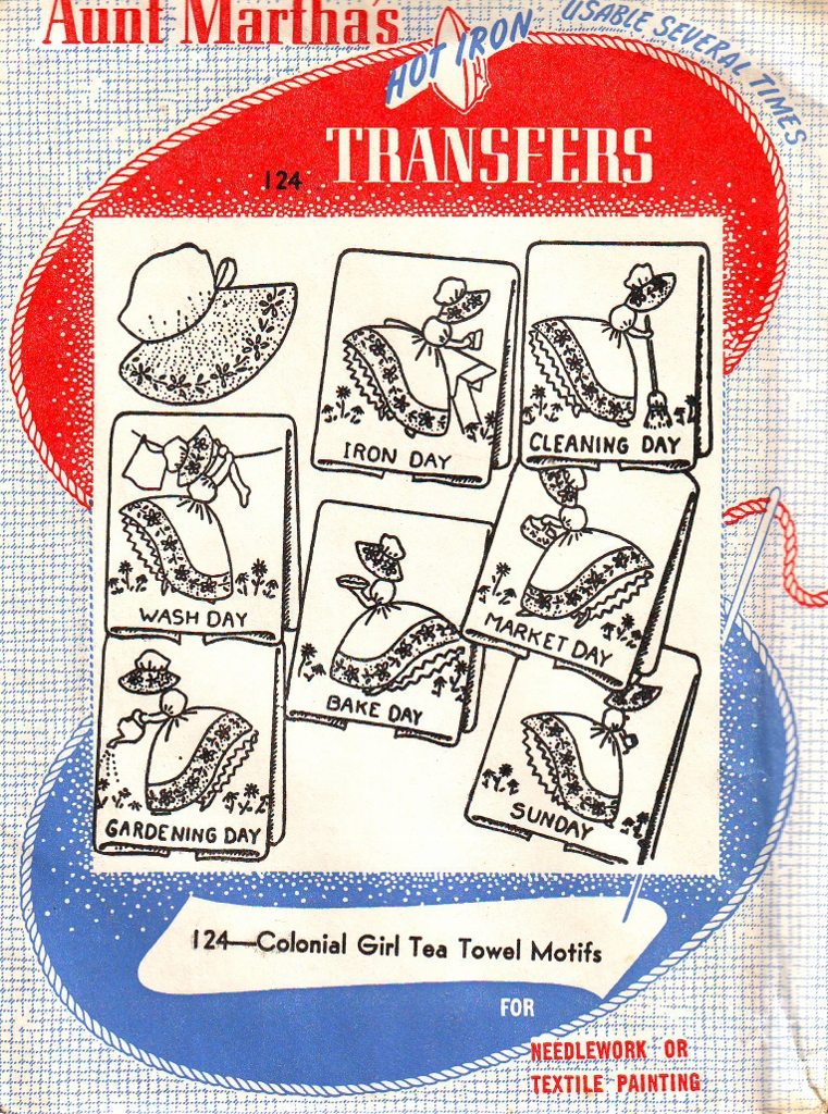Vintage Aunt Martha's Hot Iron Transfers - Your Choice