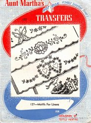 Vintage Aunt Martha's Hot Iron Embroidery Transfers