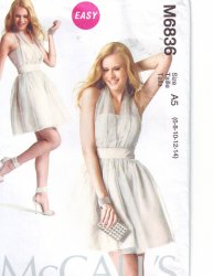 McCall's 6836 Misses' (6-14) Prom Halter Dress Uncut Sewing Pattern