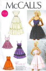 McCall's 6646 (18W-20W-22W-24W) Dress Special Occasion Prom Uncut Sewing Pattern