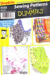 Simplicity 5335 Sewing Pattern for Dummies - Fleece Blanket and Throws