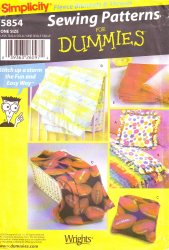 Simplicity 5854 Sewing Pattern for Dummies - Fleece Pillow and Throws